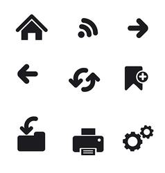 navigation icons basic vector image vector image