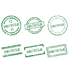 Recycle stamps vector image vector image
