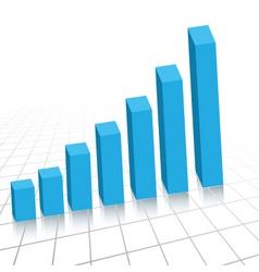 rising graph vector image vector image