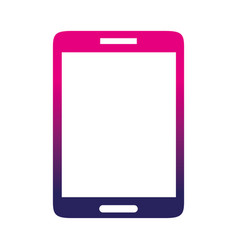 silhouette smartphone mobile to call and talk vector image vector image