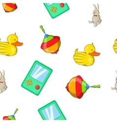 Toys kid pattern cartoon style vector