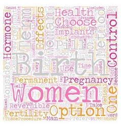 Women s empowerment and birth control text vector