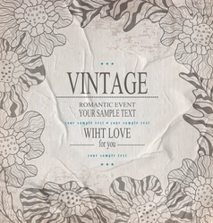Grey congratulation vintage background vector