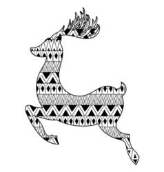 Christmas tribal ethnic Reindeer Boho tattoo vector image