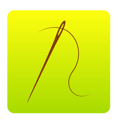 Needle with thread sewing needle needle for vector