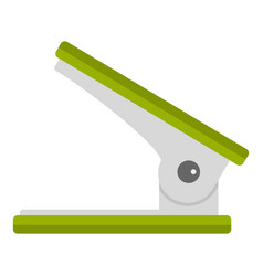 Green office hole punch icon isolated vector