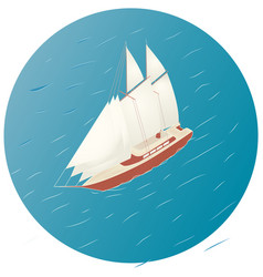 Sailing ship advertisement infographics game or vector