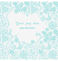 Abstract vintage for designBeautiful frame doodle vector image