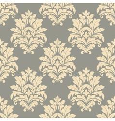 Vintage floral beige seamless pattern vector image