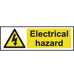 Electrical hazard safety sign vector