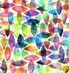 Watercolor seamless abstract hand-drawn pattern vector