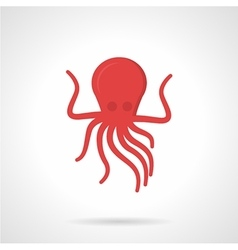 Flat style red octopus icon vector