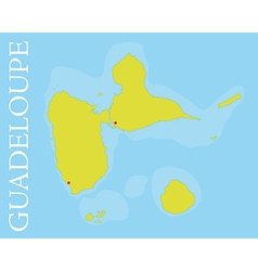 Archipelago and department of guadeloupe map vector