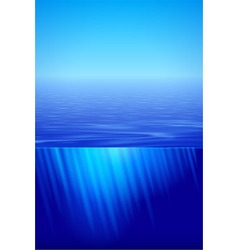 Sunshine over calm water vector