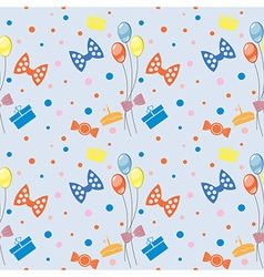 Seamless pattern background with colorful ballons vector