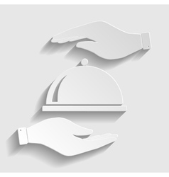 Server sign paper style icon vector