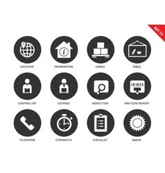 Logistics icons on white background vector