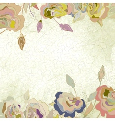 Vintage floral roses background vector