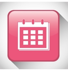 Calendar button icon social media design vector