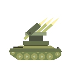 Anti-aircraft warfare flat icon vector