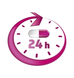 Around the clock take drugs icon vector image vector image
