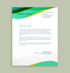 beautiful letterhead presentation vector image vector image