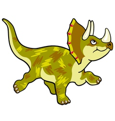 cartoon dinosaur triceratops vector image