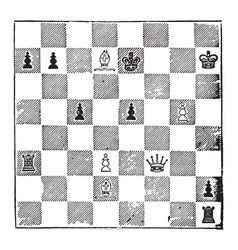 Chess strategy vintage vector
