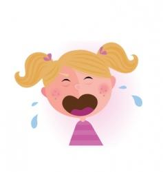 crying baby girl vector image