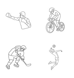 Cycling boxing ice hockey volleyballolympic vector