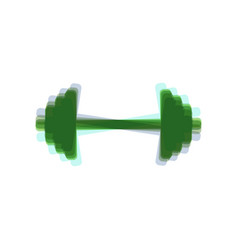 Dumbbell weights sign colorful icon vector
