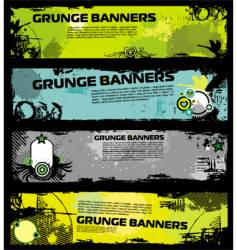 grunge banners vector image
