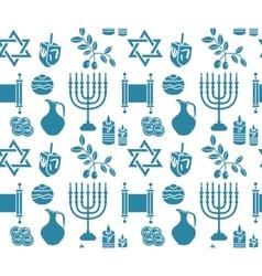 Hanukkah symbol seamless pattern Hanukkah vector image