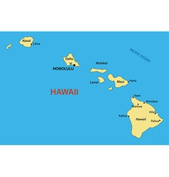 Hawaii - map vector image vector image