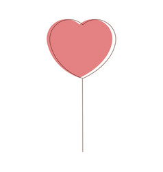 Heart balloon party decoration for event design vector