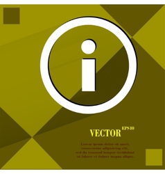 info Flat modern web design on a flat geometric vector image