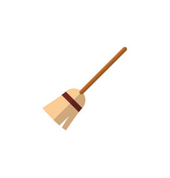 isolated witch broomstick flat icon broom vector image vector image