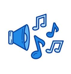 loudspeaker line icon vector image vector image