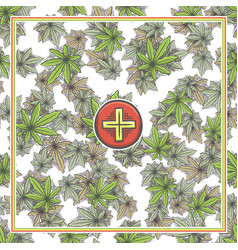 Marijuana medical banner six vector