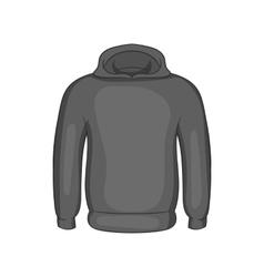 Mens winter sweatshirt icon monochrome style vector image vector image