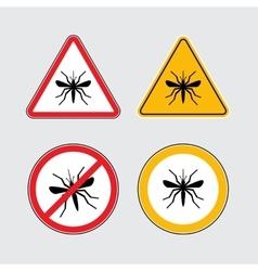 Mosquito icons set vector