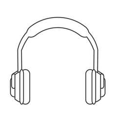 Noise isolating headphones icon vector