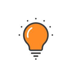 orange linear bulb icon vector image