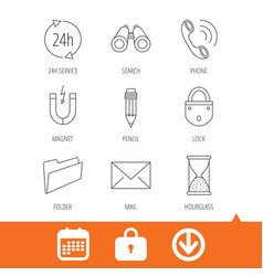 phone call pencil and mail icons vector image