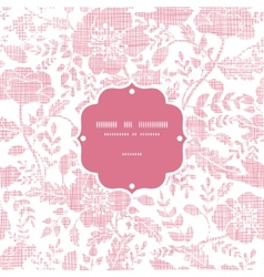 Pink textile birds and flowers frame seamless vector