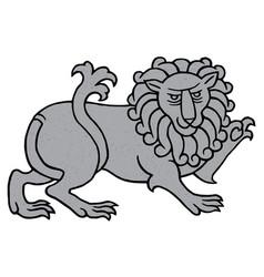 Powerful heraldic lion vector