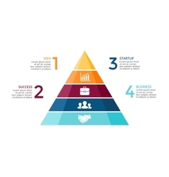 pyramid up arrows infographic diagram vector image vector image