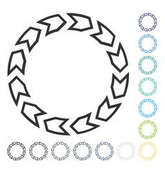Rotation circle icon vector