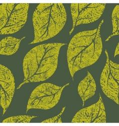 seamless vintage grunge floral pattern vector image vector image