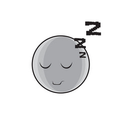 Sleeping cartoon face expression people emoticon vector